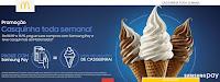Promoção Casquinha toda semana McDonalds e Samsung Pay