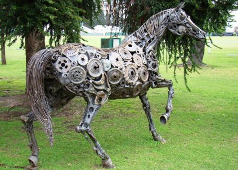 The Art Of Up Cycling Steampunk Horse S Scrap Metal