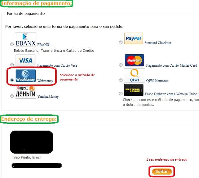 TinyDeal tipos de pagamentos disponiveis