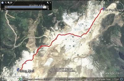Target awal hiking, parkiran sampai ke Hutan Mati dengan jarak sekitar 1,8 km saja