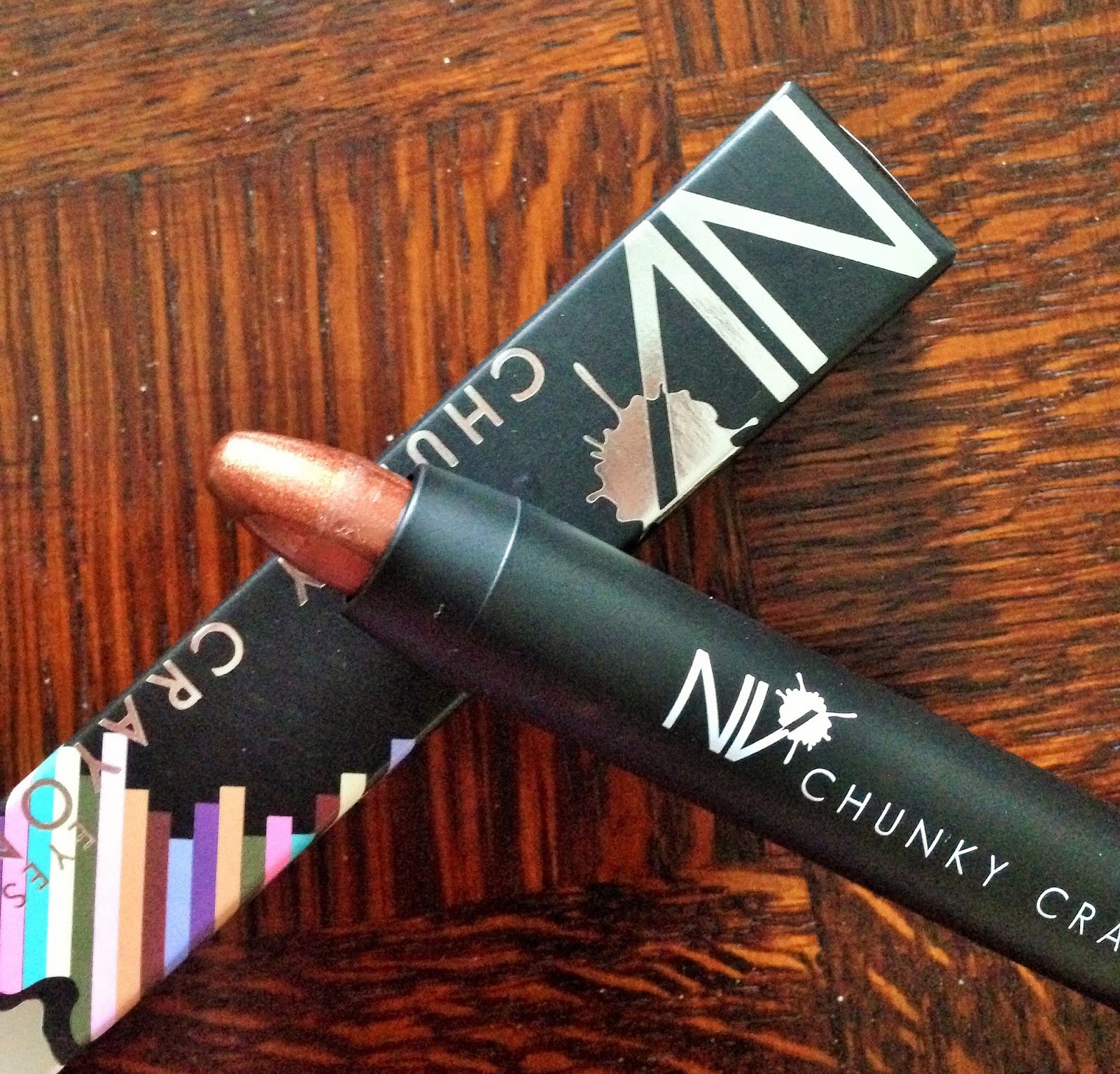 NV Colour Cosmetics Chunky Eye Pencil in Cinnamon Review Swatch