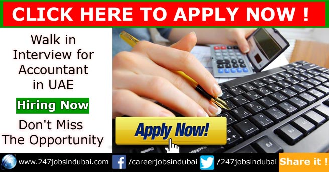 walk in interview for accountant in uae
