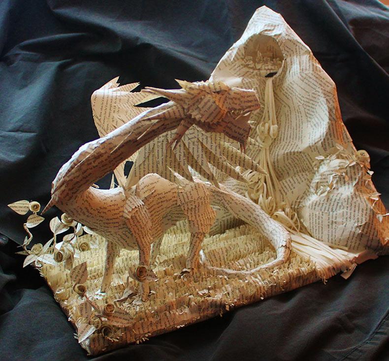 Caprichosas esculturas 3D de libro de Jodi Harvey-Brown