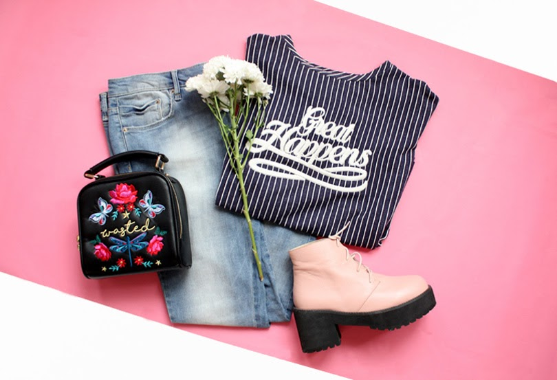 fashion style outfit ootd flatlay