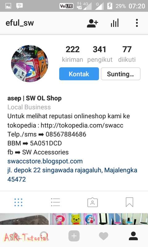 Mengubah Instagram Menjadi Profil Bisnis | ASR Tutorial