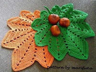 Autumn leaf crochet patter.