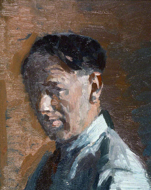 Thomas Roland Rathmell, Self Portrait, Portraits of Painters, Fine arts, Thomas Roland