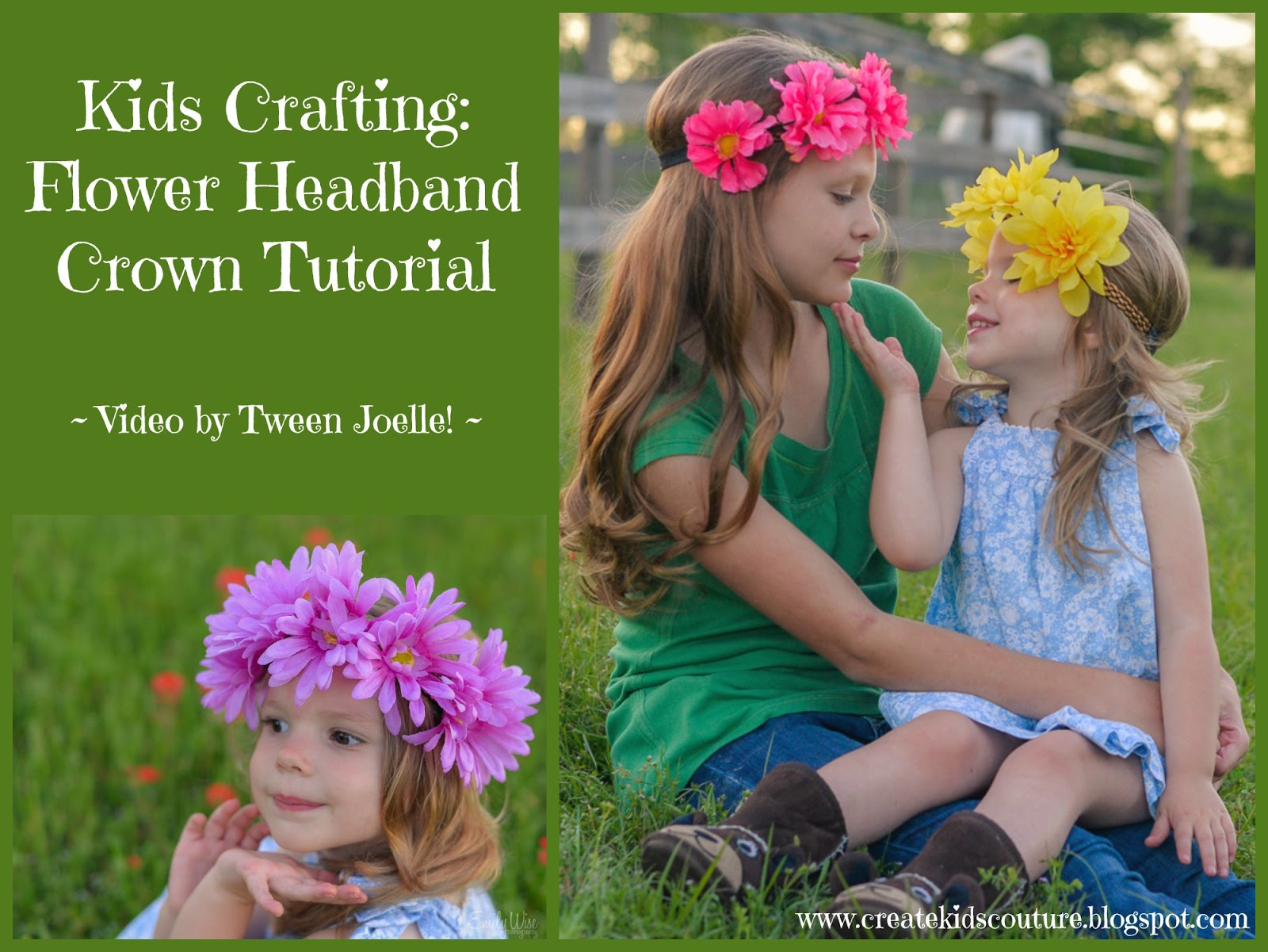Create kids couture kids crafting flower headband crown kids crafting flower headband crown izmirmasajfo