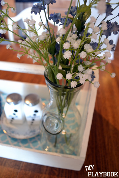Flowers water jug: Antique Toolbox Makeover | DIY Playbook