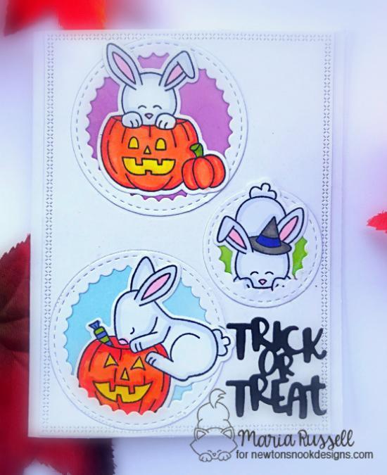 Bunny Halloween Card by Maria Russell | Hoppy Halloween Stamp Set by Newton's Nook Designs #newtonsnook #handmade #halloween