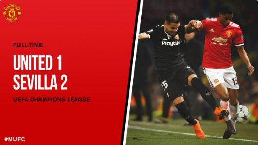 Manchester United vs Sevilla 1-2 Highlights Liga Champions