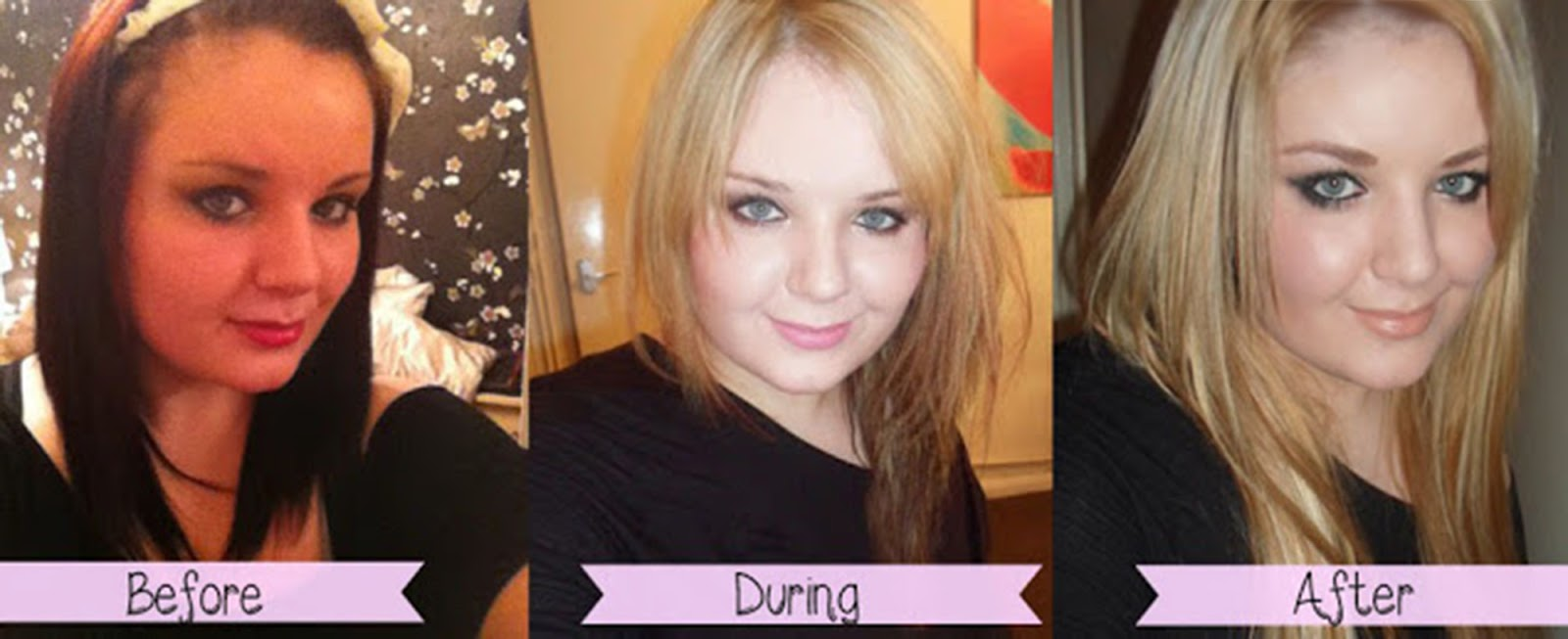 How I Lightened My Hair From Black/Red to Blonde at Home ...