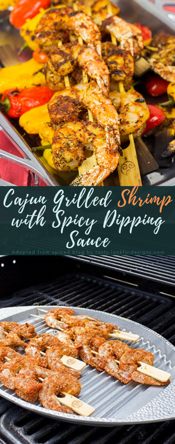 Cajun Grilled Shrimp with Spicy Dipping Sauce