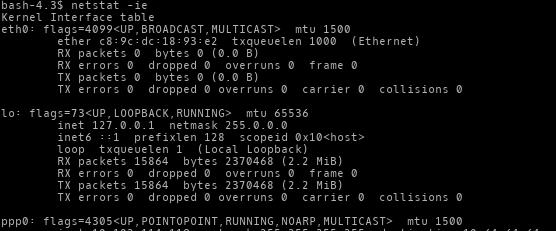 netstat -Network Statistics
