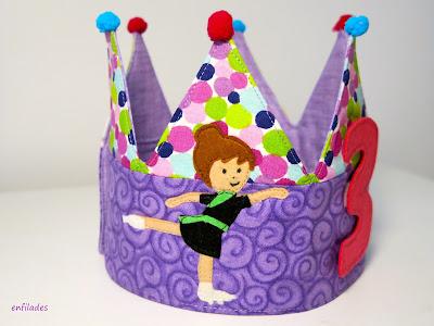 Corona d'aniversari personalitzada per nens i nenes by Enfilades