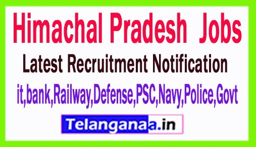 Latest Himachal Pradesh Government Job Notifications
