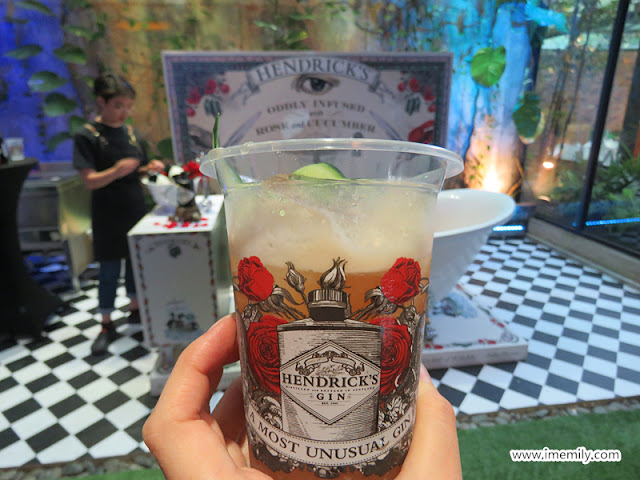 Hendrick's Gin rose and cucumber drink