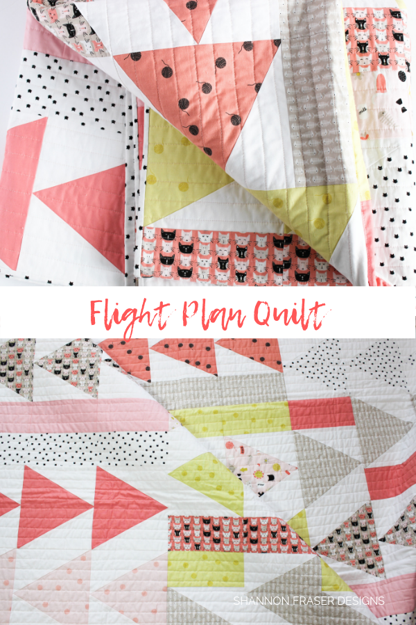 Flight Plan Quilt by Shannon Fraser Designs #modernquilt