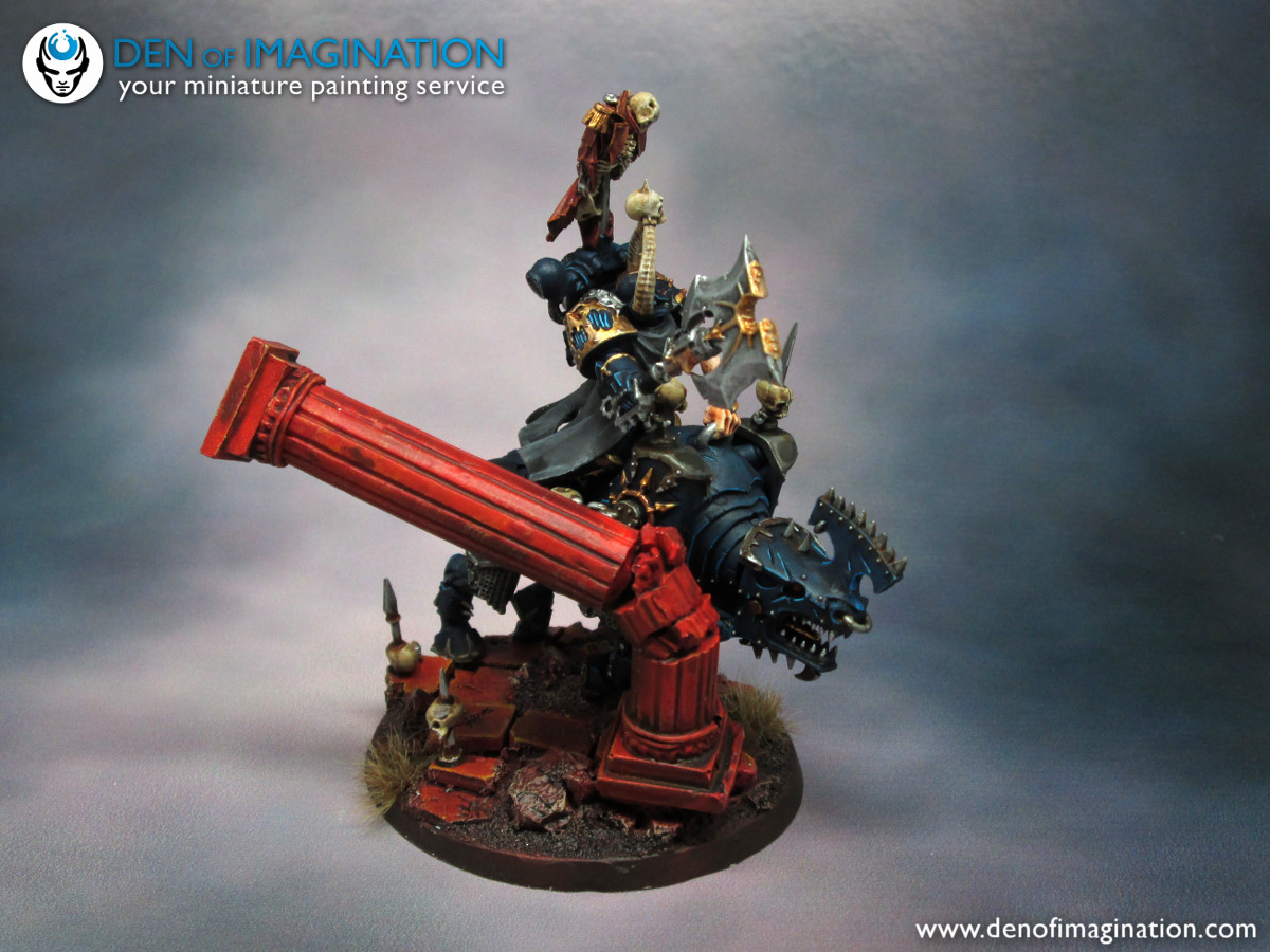 pretty nice 9b9be eaa6a I know blue Khorne.. What!  But we thought that symbols are enough and the  guy needs to be fitting to his chapter. Hopefully this is a start of a  really ...