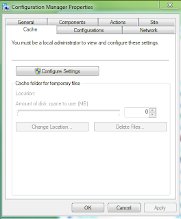 Configuration Manager Applet