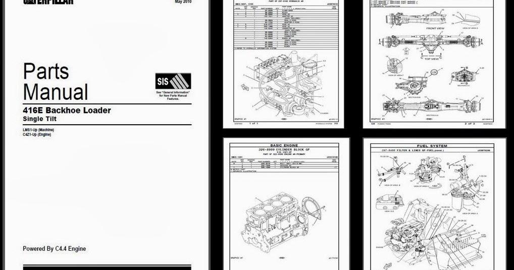 CIMASOCIADOS SAS: CATERPILLAR 416 E. MANUAL DE PARTES.