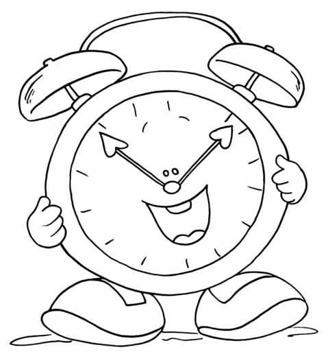 Cuentosdedoncococom Reloj Para Colorear Para Niños