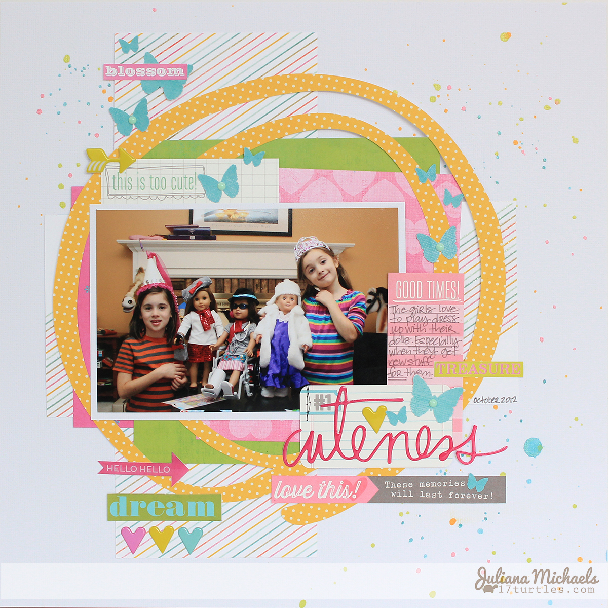 Cuteness Scrapbook Page by Juliana Michaels featuring Heidi Swapp and Elle's Studio