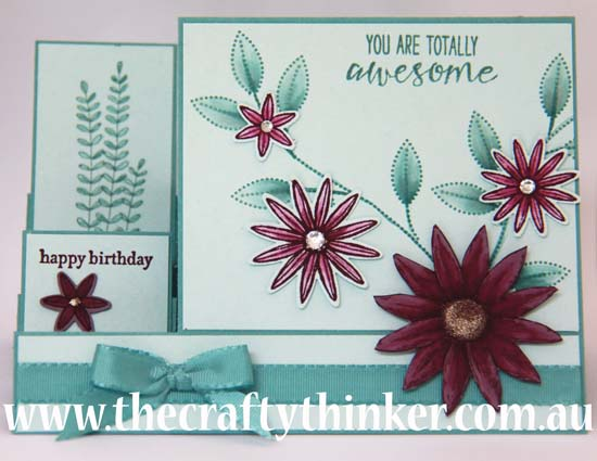 SU, The Crafty Thinker, Side Step card, card making classes