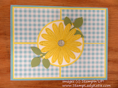 Card made with Stampin'UP!'s Daisy Delight Stamp set, Daisy punch and Leaf Punch