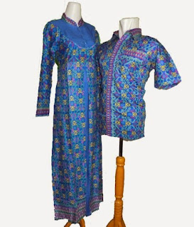 model batik gamis couple