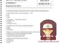 Soal Tematik Kelas 1 Tema 3 Subtema 3 Semester 1