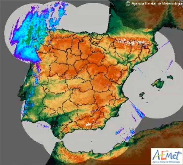 Vídeo de lo que fuera huracán Leslie, entrando en España