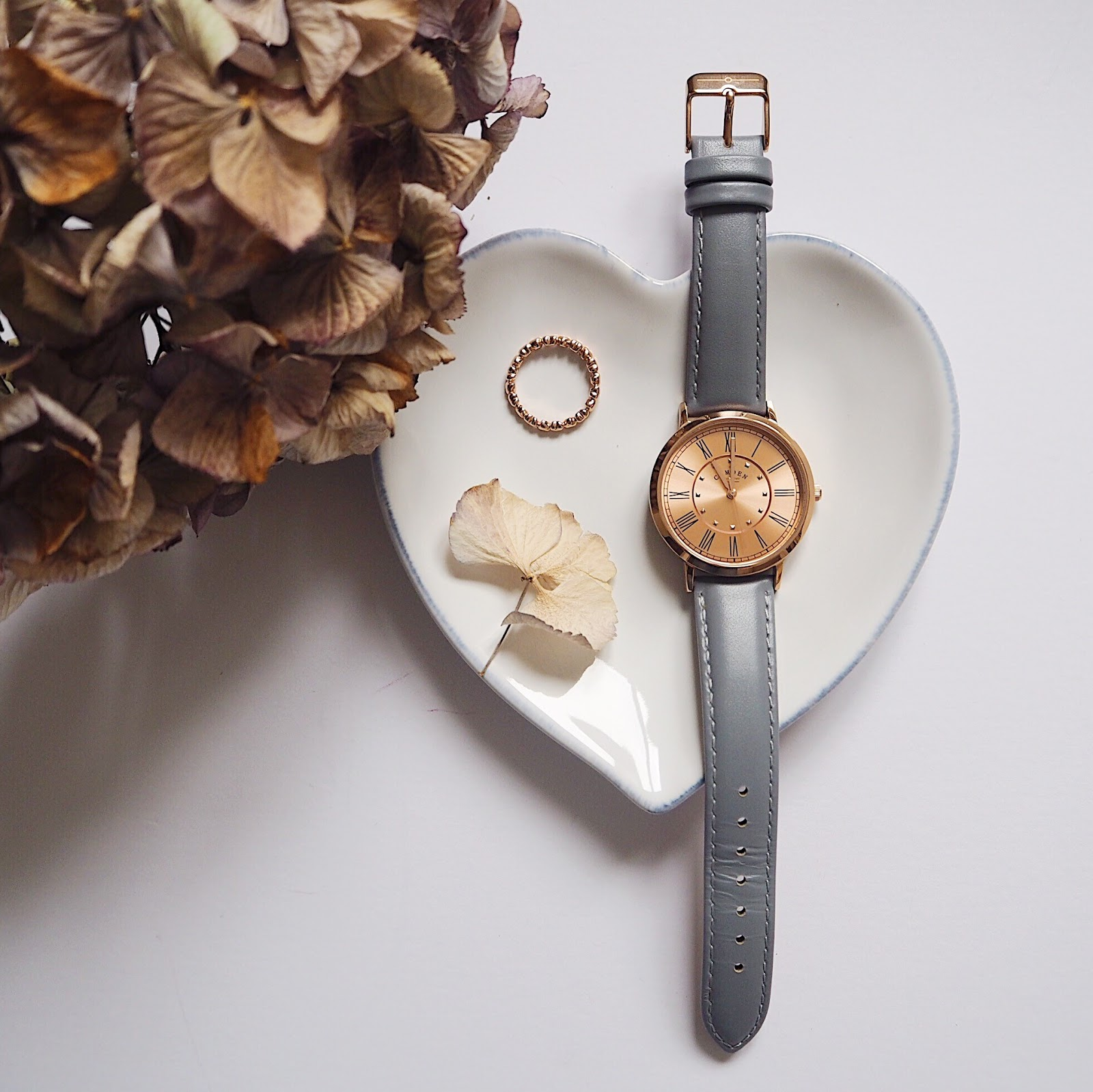 Camden Watch Company, grey and rose gold watch