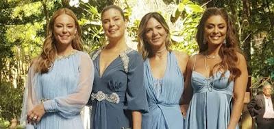 Paolla Oliveira e Ju Paes são madrinhas em casamento de Maquiador