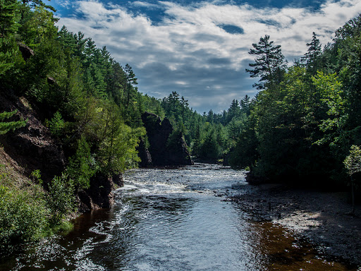 Bad River downriver of Devil's Gate at Copper Falls State Park