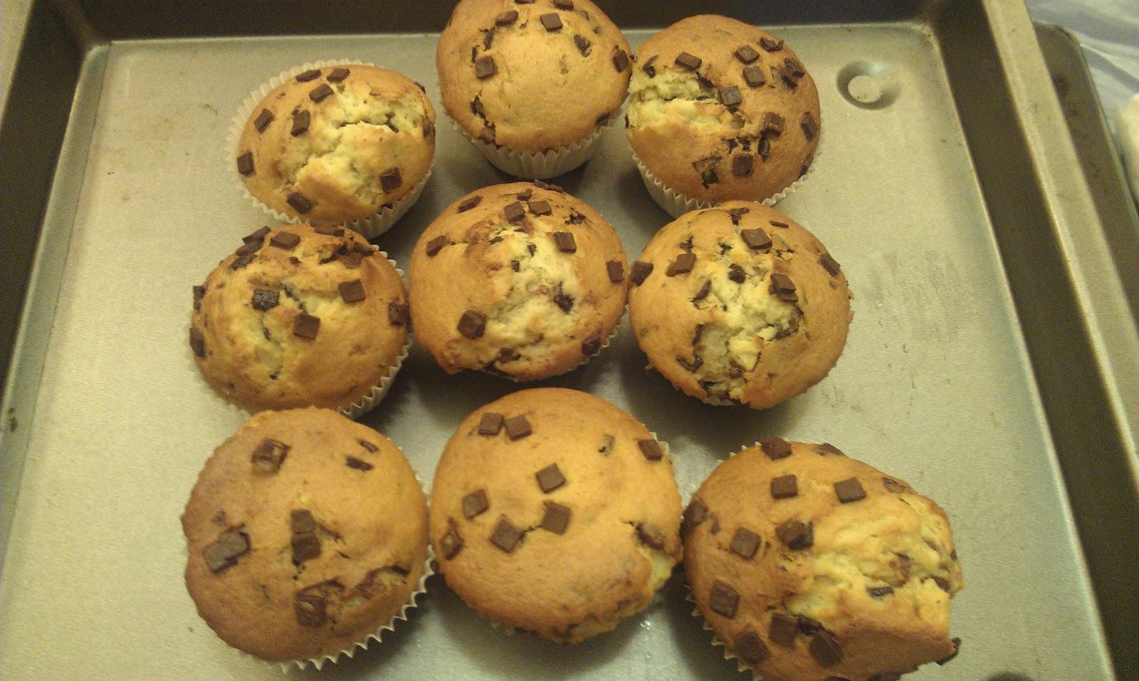 Heller Kuchen Mit Schokostuckchen Ein Einfaches Muffin Rezept Fur