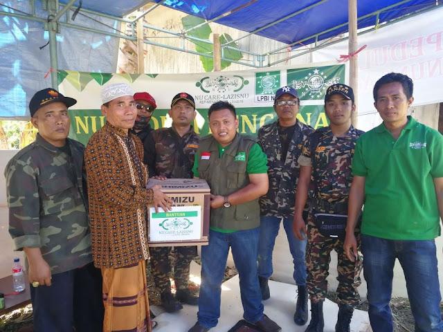 NU Care-LAZISNU Serahkan Bantuan di Pengungsian Gunung Agung Bali