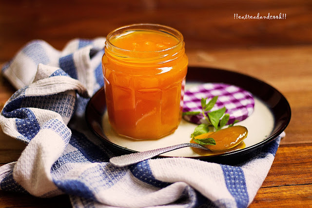 how to make Mango and Ginger Jam recipe and preparation