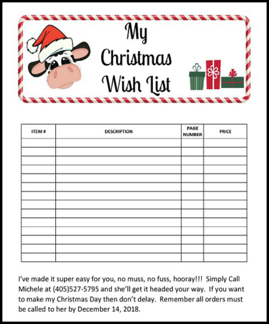 Christmas, Wish List, Stampin'UP!,