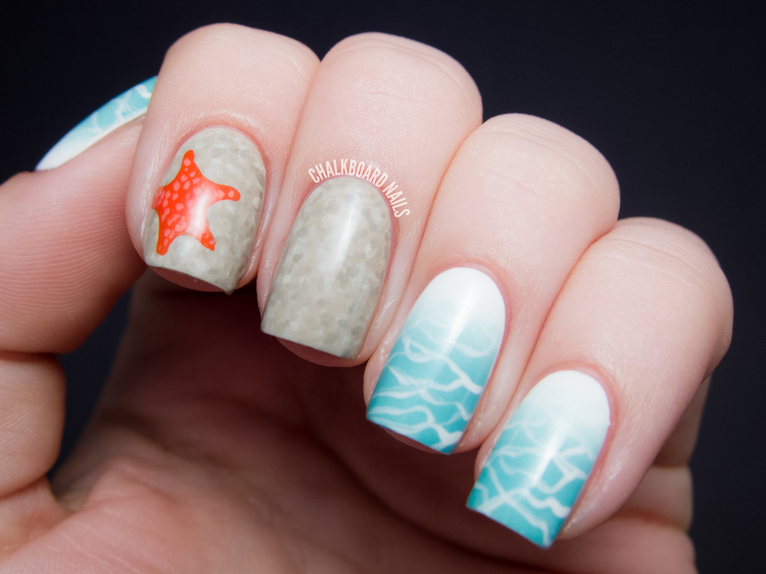 TUTORIAL: Beauty and the Beach Summer Nail Art ...