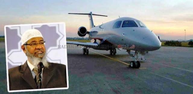 Pengusaha Ini Pinjamkan Jet Pribadinya Khusus untuk Zakir Naik Selama di Indonesia