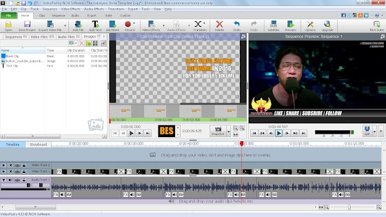 Using VideoPad by NCH Software
