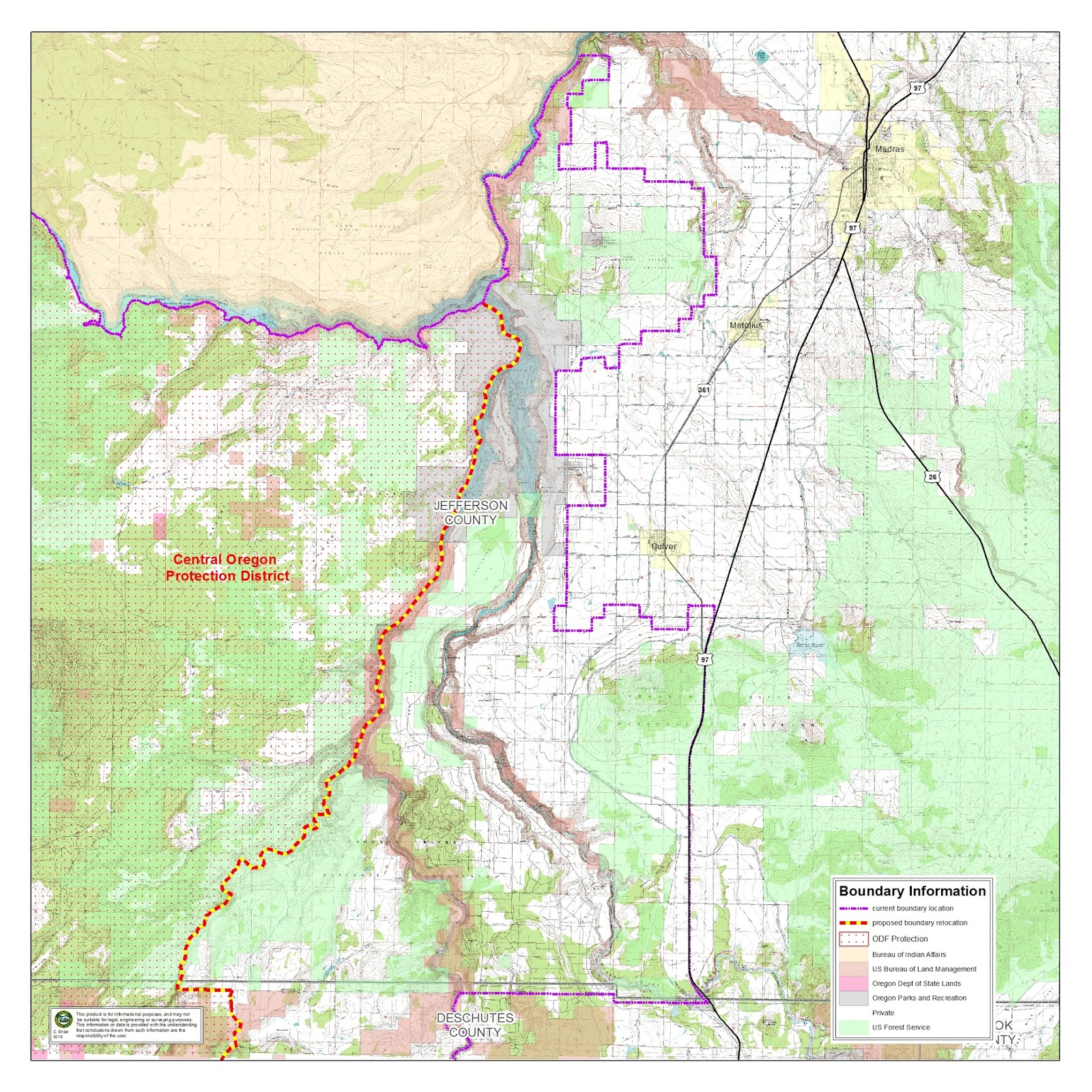 public hearing on revision to oregon department forestry central oregon forest protection district boundary