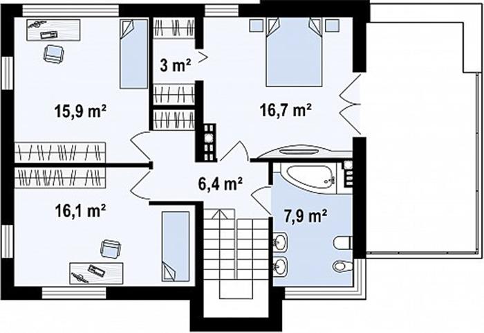 Mẫu thiết kế biệt thự nghỉ dưỡng 2 tầng hiện đại 127m2- 4
