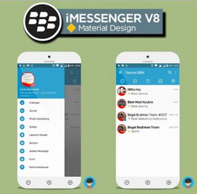 BBM iMessenger v8 Mod Material Design Terbaru v3.1.0.13 Apk