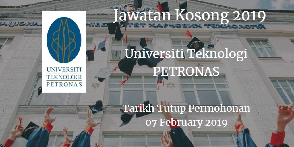 Jawatan Kosong UTP 07 February 2019