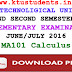 Question Paper for Calculus MA101-Supplementary Examination June/July 2016