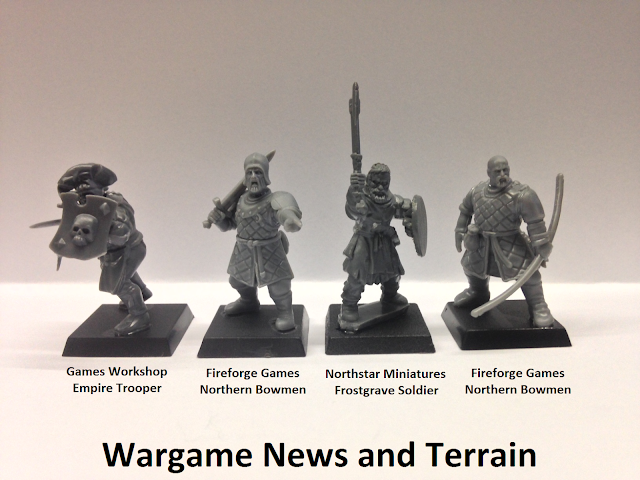 Fireforge Games Forgotten World Plastic Northern Bowmen Scale Comparison