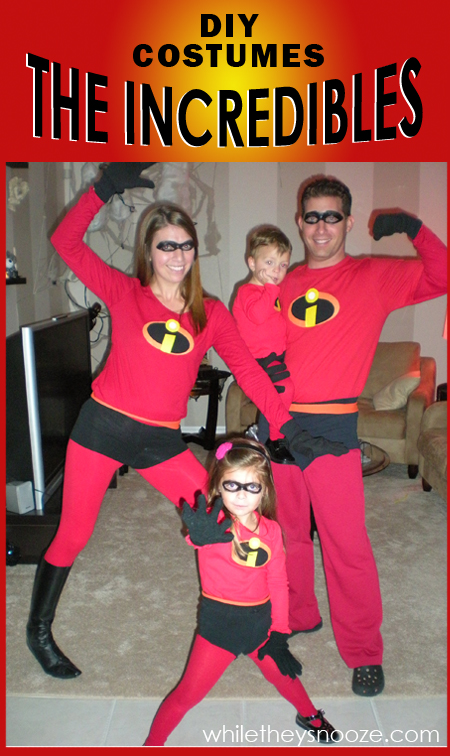 How to Make The Incredibles Halloween Costumes + Costume Contest & While They Snooze: How to Make The Incredibles Halloween Costumes + ...