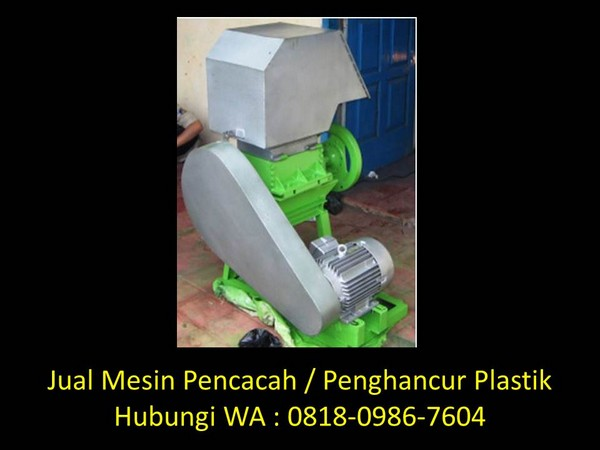 cara membuat mesin pencacah plastik sendiri di bandung